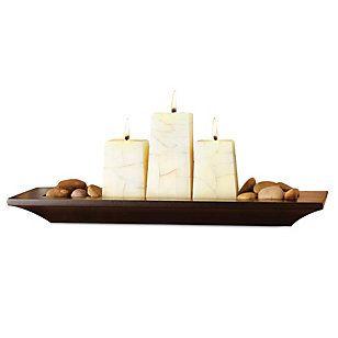Genérico Plato rectangular  3 velas