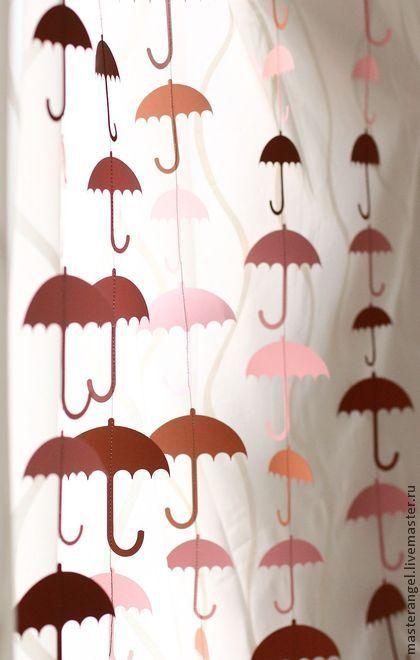 "Гирлянда ""Зонтики"". Handmade."