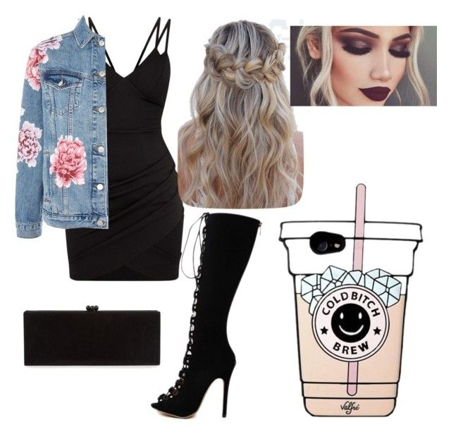 """""""Fancy Date Outfit"""" by lyssa12 on Polyvore featuring Topshop, WithChic and Edie Parker"""