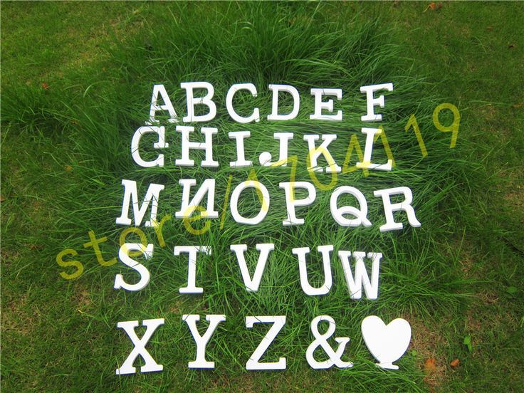 Standing 10cm Artificial Wood wooden white Letters for decorations Wedding Decorations Home Decorations  Brithday  letter