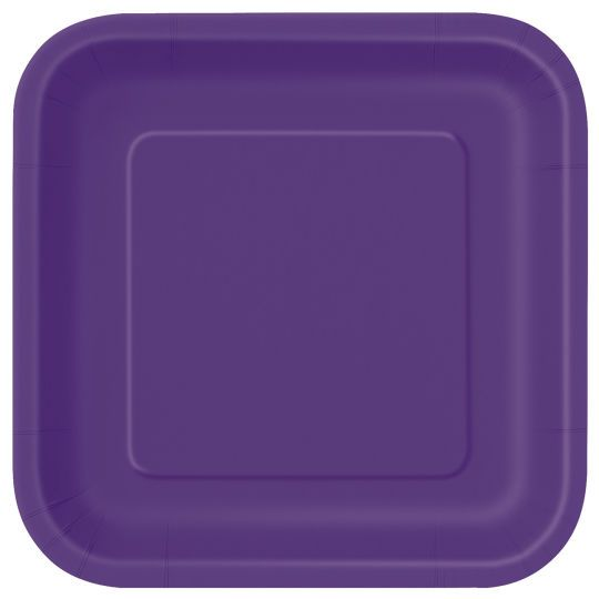 <div>Bring a touch of elegance to your party table with our Square Dark Purple Dinner Plates. Ou...