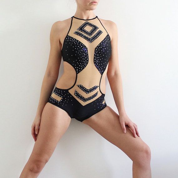 Competition Performance Pole dance costume with by CrinolinAtelier