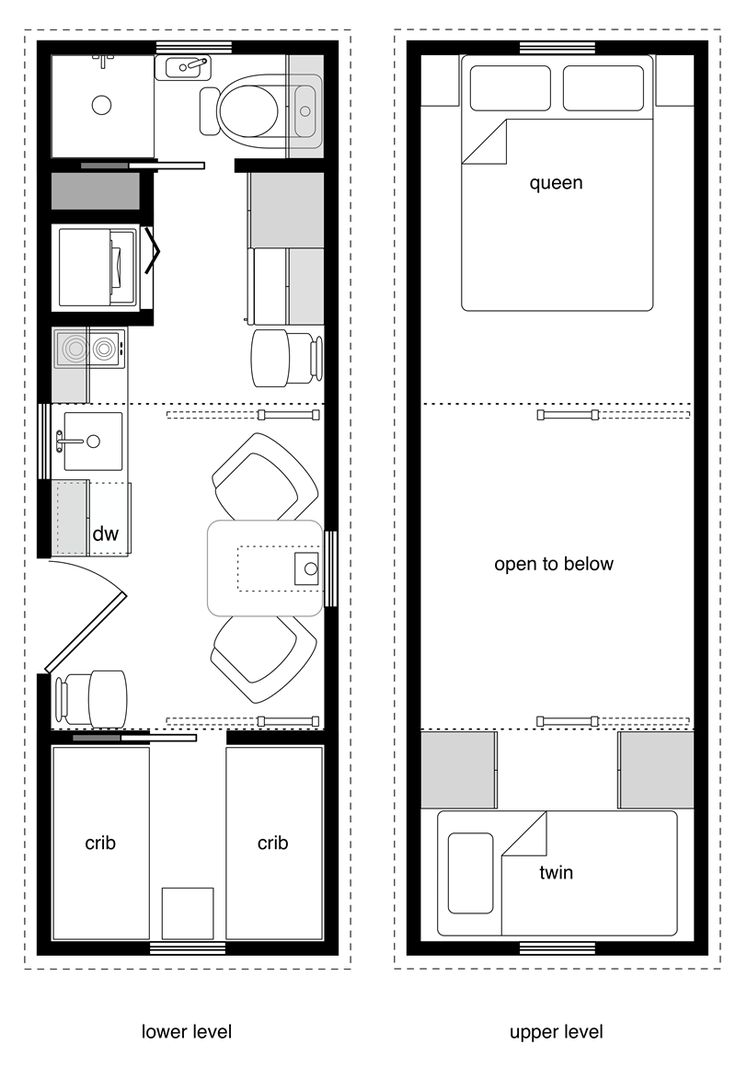 8x24 family one crib w murphy bed and storage loft tiny on best tiny house plan design ideas id=58661