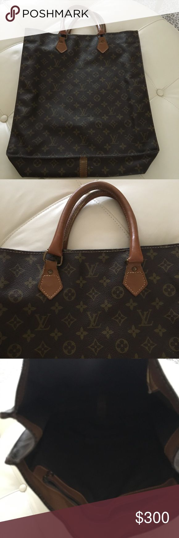 Louis Vuitton Vintage tote Louis Vuitton Vintage tote. Bought in the 1980's from the Louis Vuitton store. Very good condition! 14 x 13.5 inches with 4 inch handle drop.  This is HALF price of what the same vintage bag is selling online (see LXR) Louis Vuitton Bags Totes