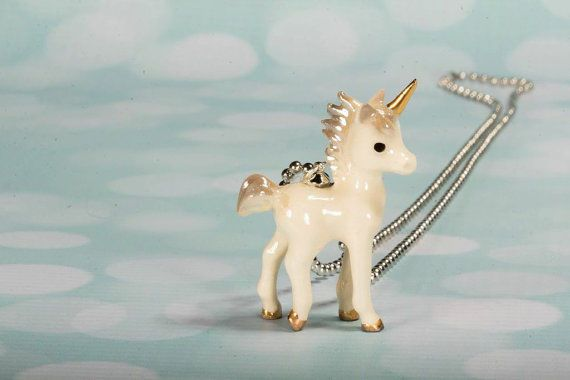 Unicorn Necklace Handcrafted Whimsical Cute Unicorn Necklace Fantasy Unicorn