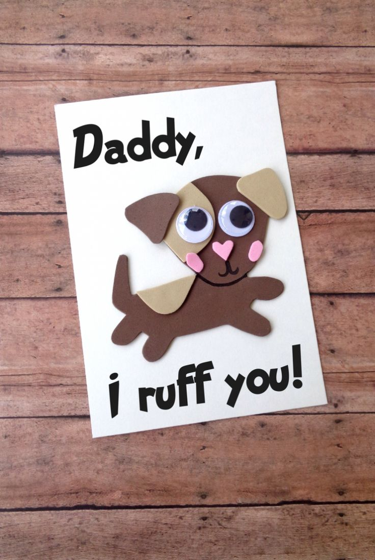 DIY Fathers Day Card - Dog Craft, Kids Craft Idea, Fathers Day Crafts, Download the template to make your own Dog Themed Card today!