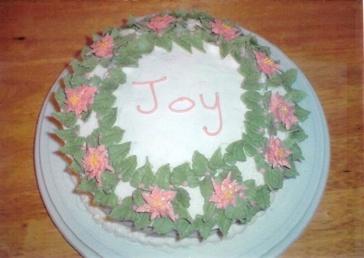 Christmas wreath cake cakes cake decorating pinterest