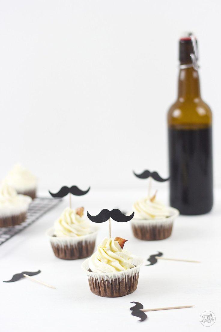 Schoko Bier Cupcakes mit Baconchips