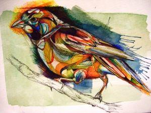 water color sparrow