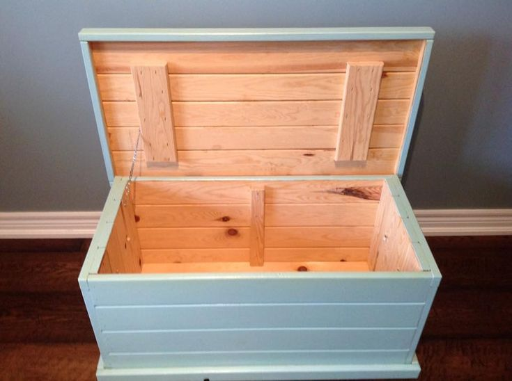 Pine box painted and sealed for protection