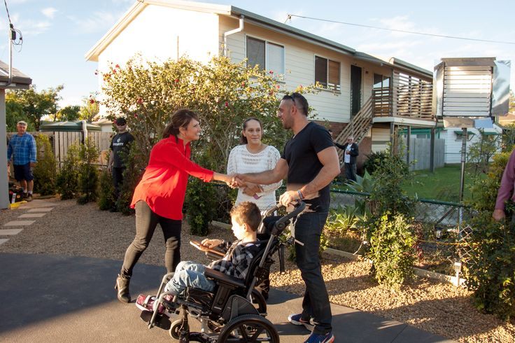 Chris Bath from Channel 7 meets ben Shah and Calyn to introduce them to their new home and no, its not just a new bathroom and bedroom as they had been expecting.....its a whole new home, specially designed for their whole family.