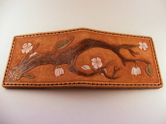 Blossom wallet by Sova Leatherworks: Cuero Repujado, Blossoms Wallets, Brown Eye, Sova Leatherwork, Leather Wallets Smal, Wallets Smal Purses, 2010 Sova, Leather Bags, Bags Ideas