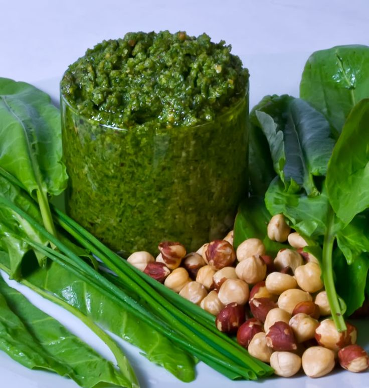 ... Sorrel Chive Pesto | Recipes: Vegetarian | Pinterest | Pesto and Spicy