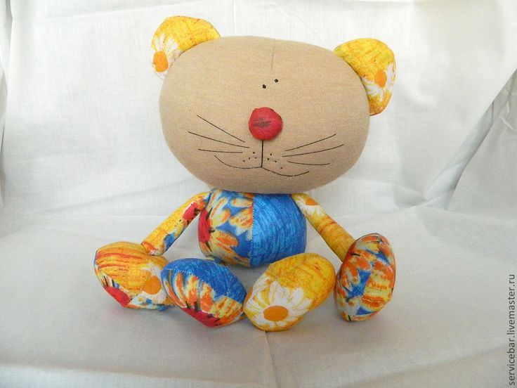 """Купить Игрушка текстильная Кот """"Апрель"""" - игрушка ручной работы, кот, котик"""