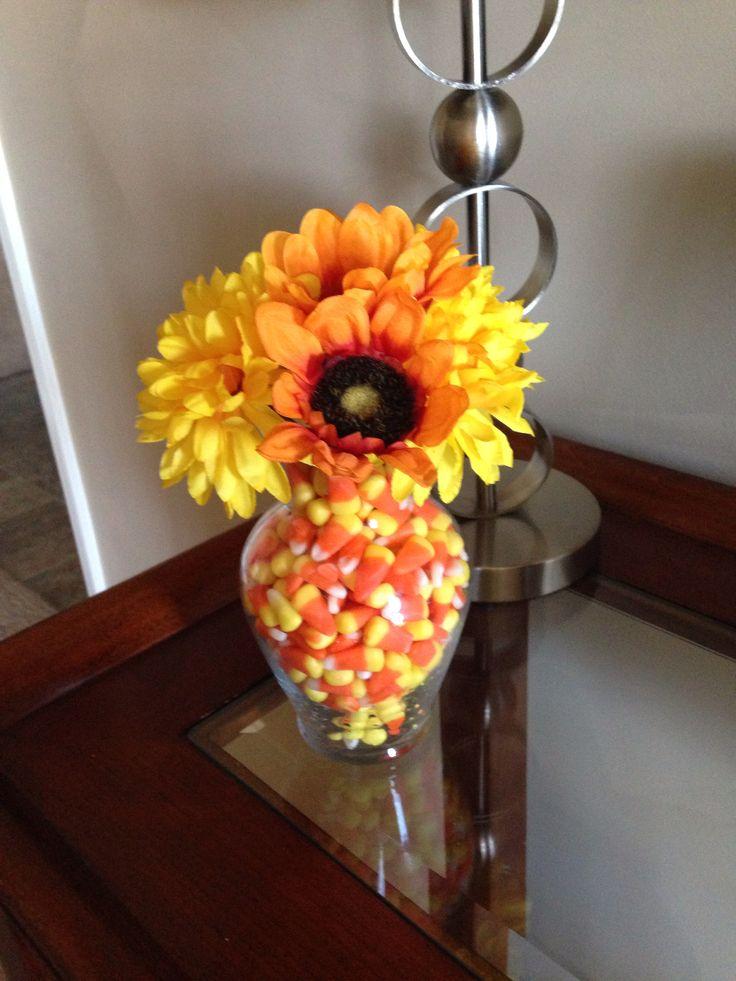 Candy corn fall decoration
