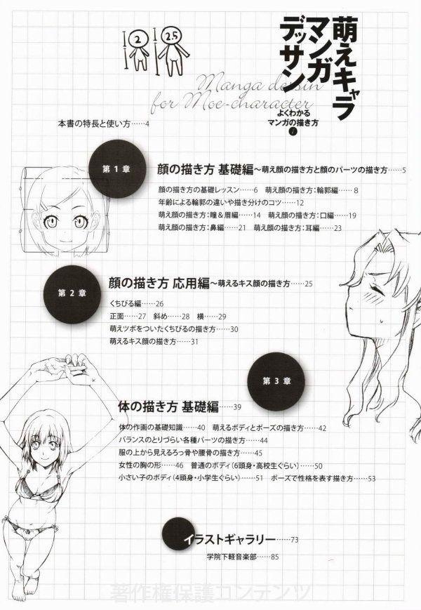 萌えキャラマンガデッサン (コスミックアートグラフィック よくわかるマンガの描き方1) | 本の中みたい!