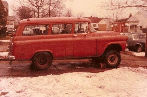 https://flic.kr/p/crVS4b | My Old Betsy 58 GMC SUBURBAN CarryAll  1/2 ton 2WD, After A Snow Storm to 3/4 Ton NAPCO 4WD | The After Market or Dealership & later Factory or Dealership Installed NAPCO 4 Wheel Drive System WAS & Still Is The EASEYEST & THe HEAVY DUTYEST 4x4 Unit ever used on GM Trucks !!! Shares some parts with the Old Dodge REAL POWER WAGON Trucks
