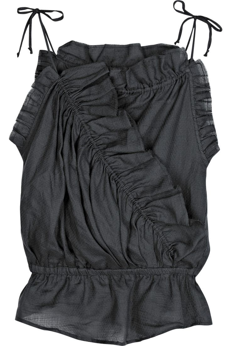 Much too expensive for me, but so so perfect for the coming summer!  Isabel Marant's ruffled dark-gray top