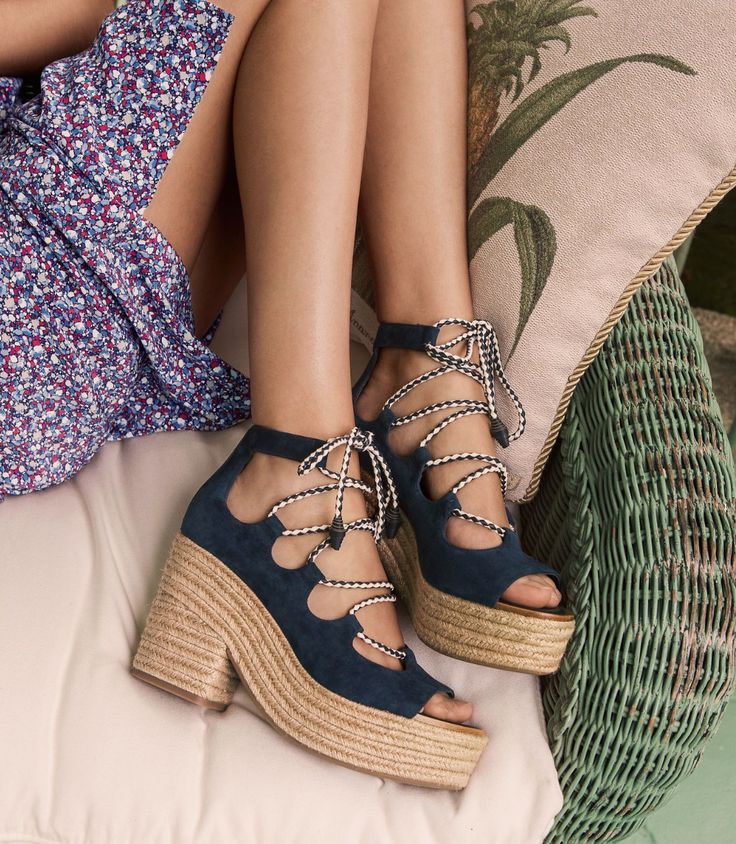 Visit Tory Burch to shop for Positano Lace-up Platform Espadrille and more  Womens Heels & Pumps. Find designer shoes, handbags, clothing & more of  this ...