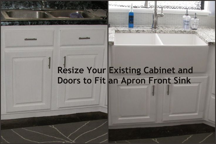 Resize Your Existing Cabinet And Doors To Fit An Apron