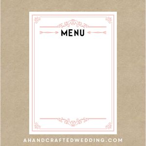 43 Best Menu Template Images On Pinterest Food Menu