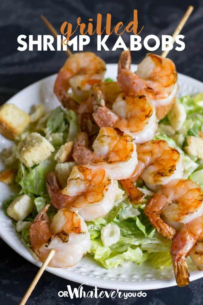 Traeger Grilled Shrimp Kabobs
