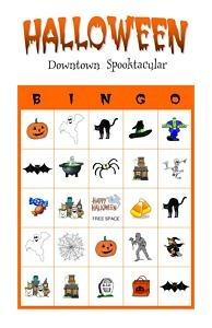 Halloween Party Bingo Game