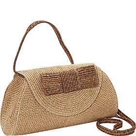Straw Handbags and Purses - eBags.com  -  Magid - Lurex Paper Straw Bow Clutch/Crossbody