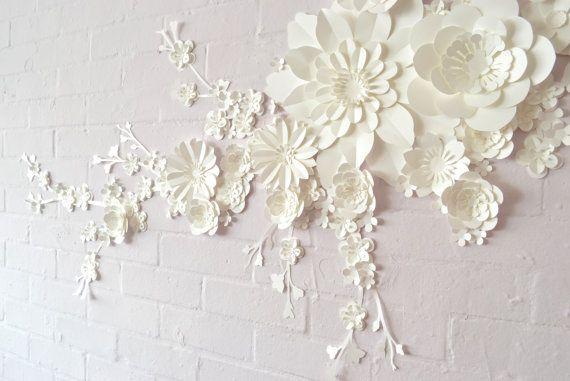 Handmade Paper Blossom Wall Display