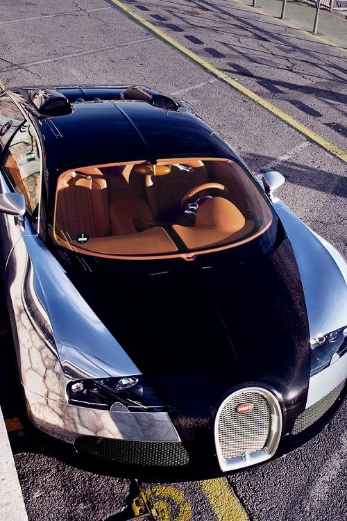 Bugatti Veyron. 0-60mph in 2.4 seconds, the fastest road-legal production car in the world, with a top speed of 268 mph
