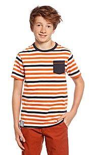Here and there T-shirt wit/oranje. shirt met korte mouwen in single jersey kwaliteit met ronde hals- Met aangenaaide borstzak- Bio Cotton- Katoen van gecontroleerde teelt- Ecologisch en milieuvriendelijk- Huidvriendelijk, ademend en natuurlijk - 100% Katoen. #oranje #wkvoetbal #wkbrazilie2014 #wkoranje #oranjeproducten