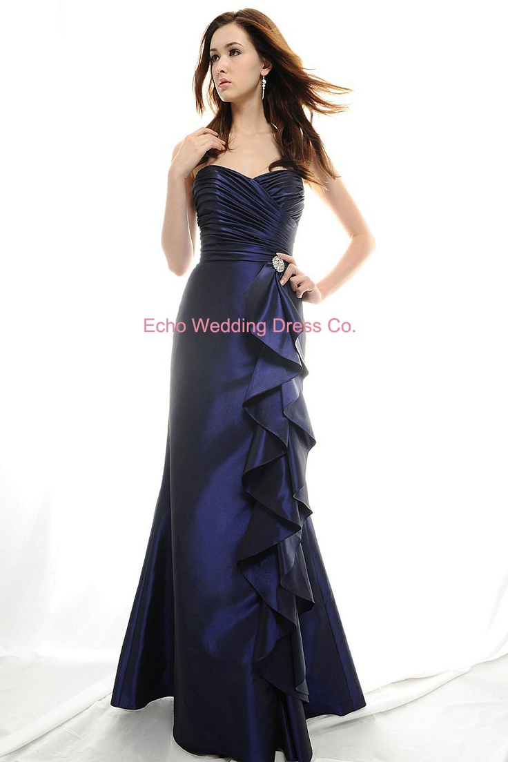 Navy blue bridesmaids 39 dresses nautical beach wedding for Beach wedding bridesmaid dresses pinterest