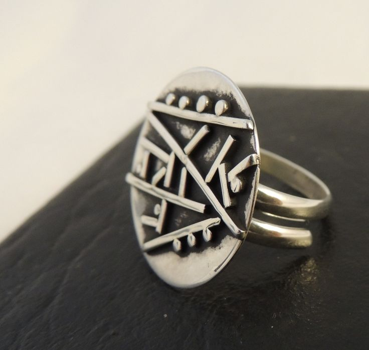 silver ring, hand made