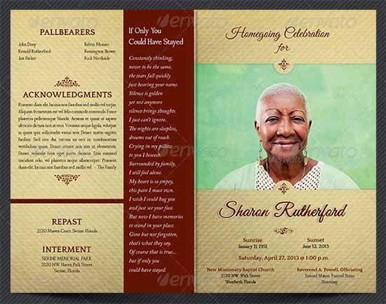 Free Printable Memorial Service Programs 31 Funeral Program Templates Free  Word Pdf Psd Documents, 214 Best Creative Memorials With Funeral Program ...  Free Obituary Program Template