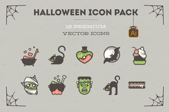 Halloween Icon Pack! 10 vector icons by Difiz Boutique on Creative Market
