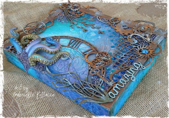 NEW Video Tutorial! Mixed Media Canvas {Dusty Attic and Shimmerz Paints}