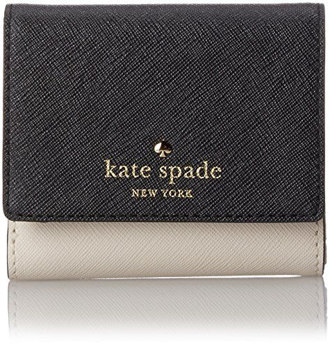 kate spade new york Cedar Street Tavy Wallet, Black/Pebble, One Size