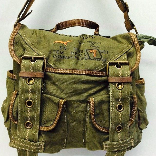 Retro Style Canvas Messenger Bag