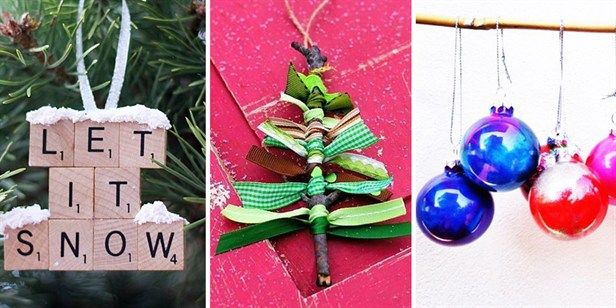 15 Seriously Easy DIY Christmas Tree Decorations