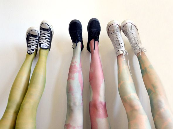 MAKE - Acid tie-dyed stockings (via @Three Thousand)