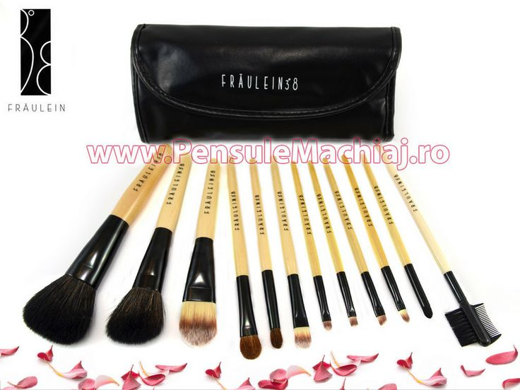 Set 12 pensule machiaj Black Premium Fraulein38