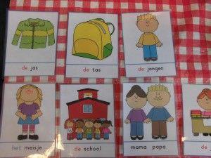 Woordkaarten 'Welkom op school' | Klas van juf Linda