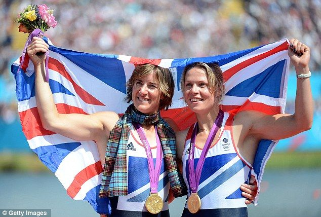 """What a performance: Katherine Grainger and Anna Watkins show off their gold medals. A great story, a Scot, and at last no longer the """"bridesmaid"""". Inspirational!"""