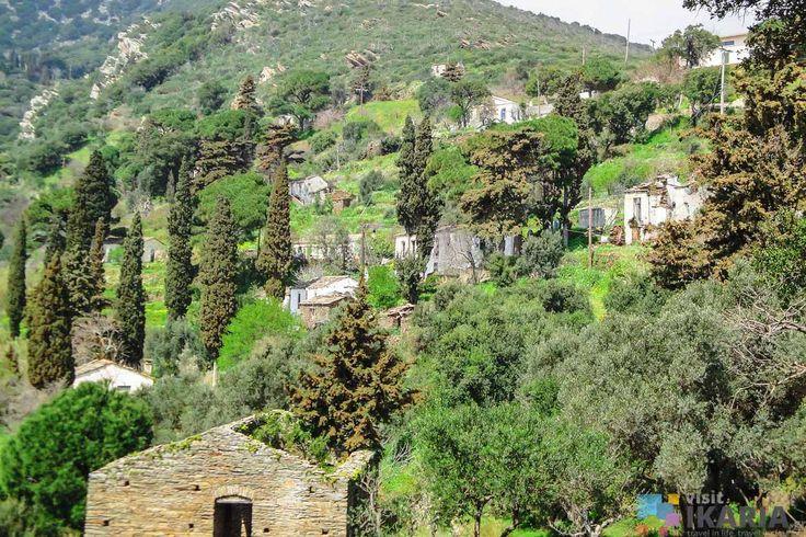 Tsouredo village, Ikaria island, Greece