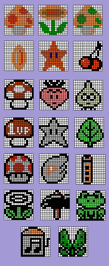 Sprite Stitch Board! • View topic - mario things from 1-3