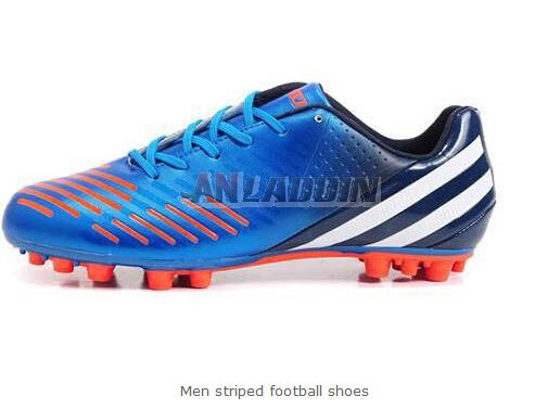 Men striped football shoes