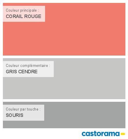 Castorama Nuancier Peinture - Mon harmonie Peinture CORAIL ROUGE satin de COLOURS Collection