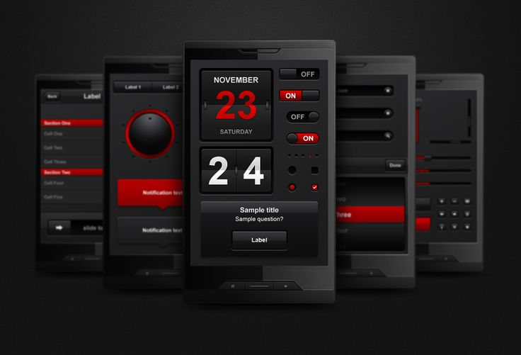 Complete Mobile Interface by erigongraphics.deviantart.com on @DeviantArt