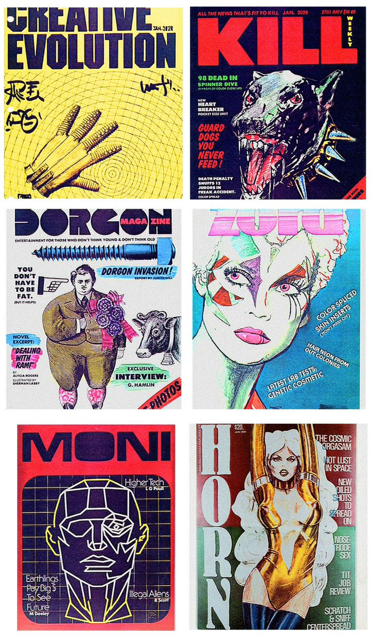 FUTURE NOIR - Fictional magazine covers from Blade Runner.The...