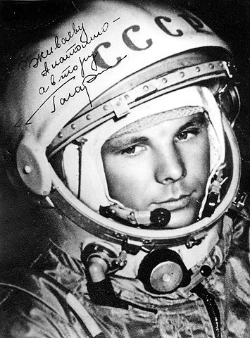 Yuri Gagarin......a pioneer. First human to leave earth.